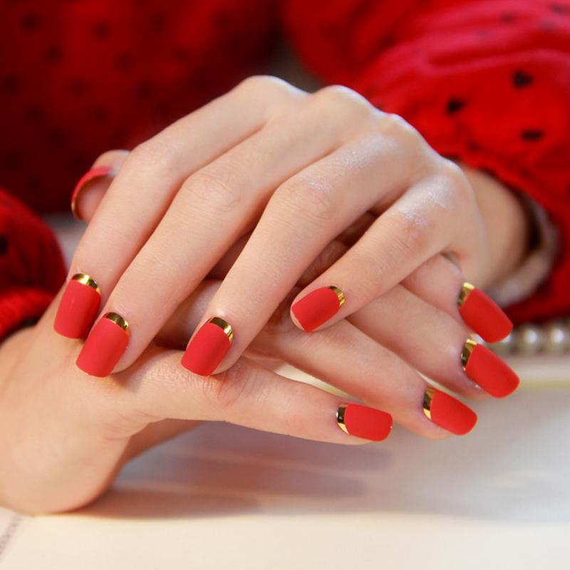 красные матовые ногти картинки