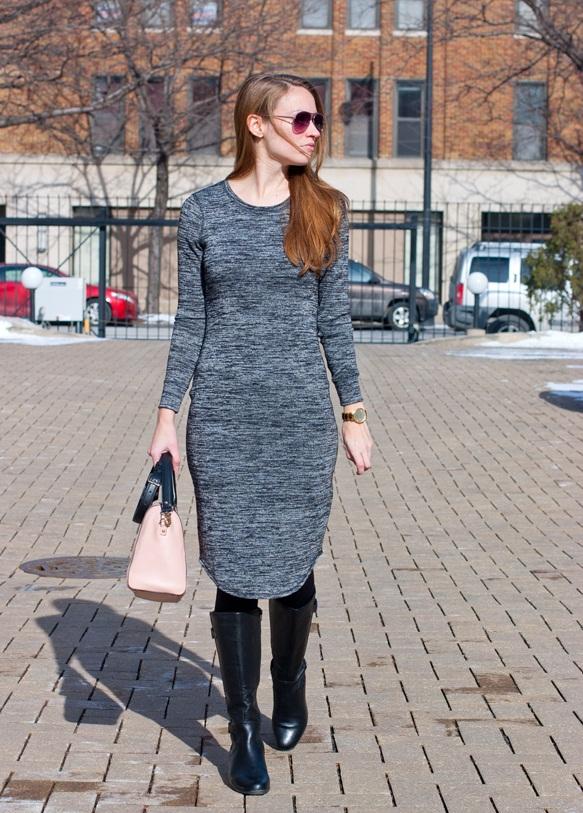 Трикотажное платье тренд