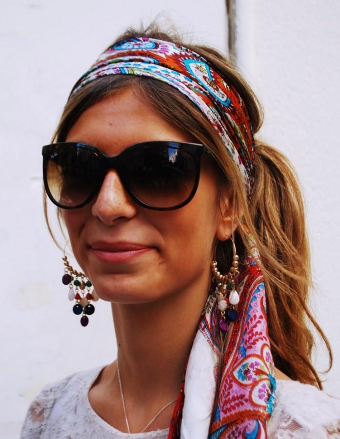Модный платок на голову 110