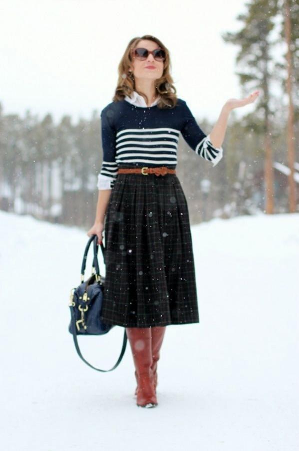 Тенденция: 11 образов с миди-юбками на все случаи жизни 0