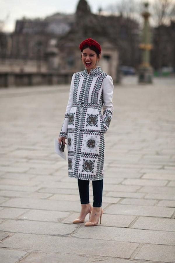 Как носить платье зимой? С брюками! 4