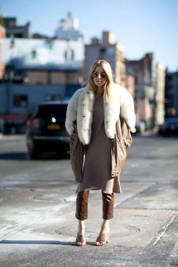 Как носить платье зимой? С брюками! 7