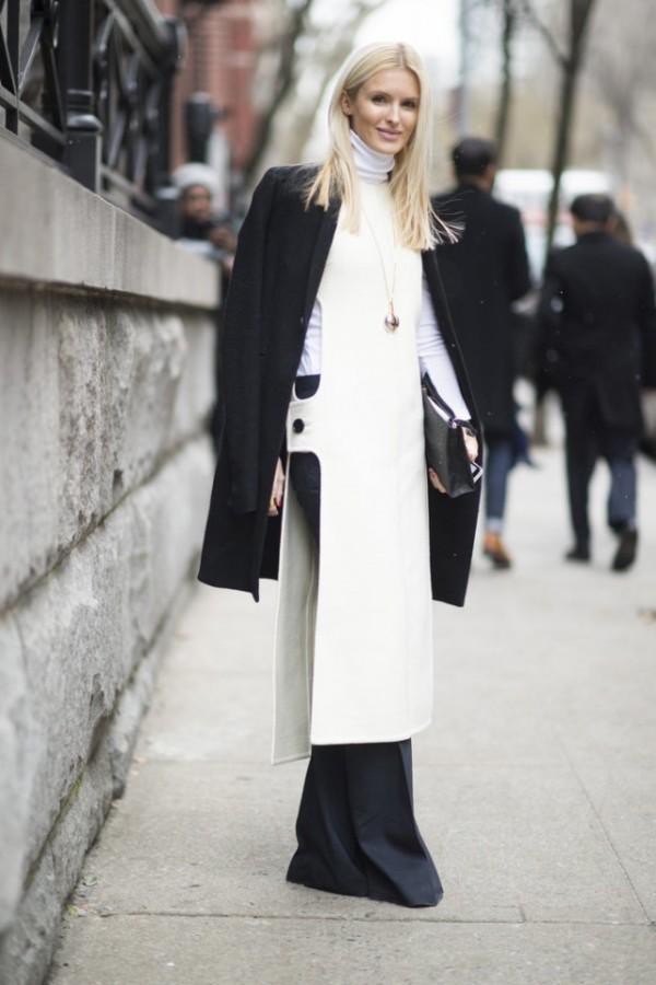 Как носить платье зимой? С брюками! 9