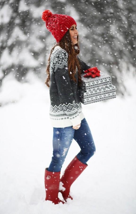 Скандинавские узоры: красивые зимние свитера 2