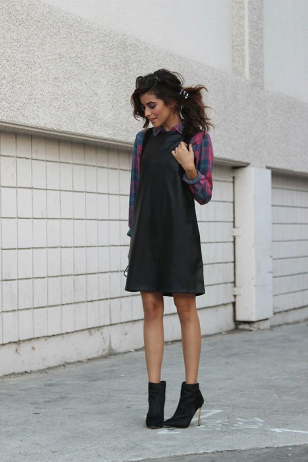 Актуальное решение: платье поверх рубашки 9
