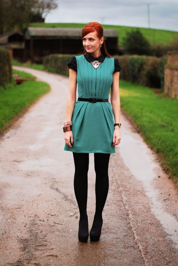 Актуальное решение: платье поверх рубашки 10