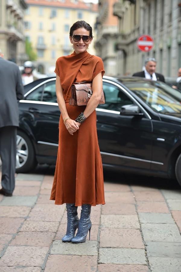 Идея для праздника: модные платья-миди 1