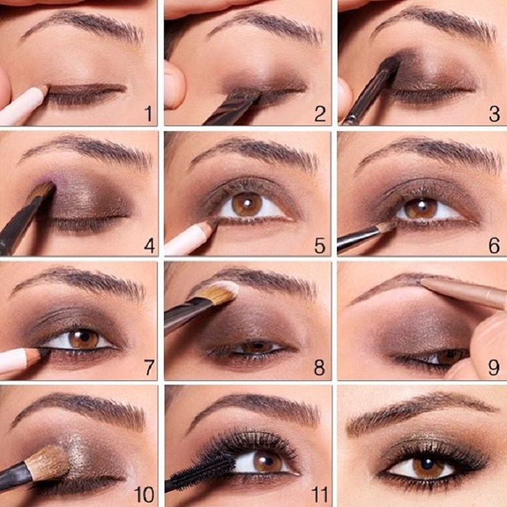 Makeup techniques for blue eyes