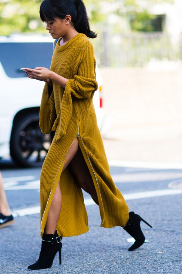 Два в одном: платье-туника с разрезами 3