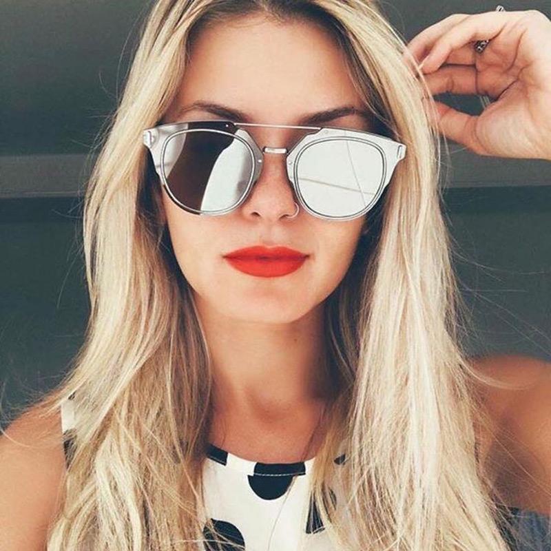 e0a6a44a8e70 Тенденция  зеркальные солнцезащитные очки — Модно   Nemodno