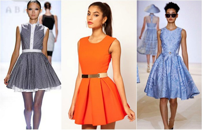 Фасон платья с юбки солнце