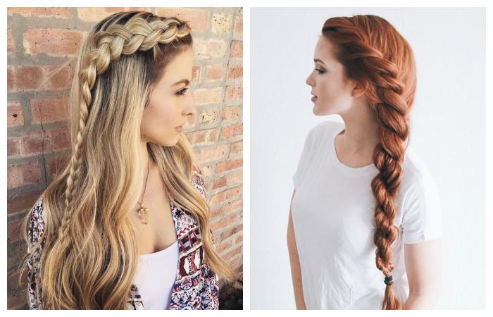 Прически для длинных волос косички