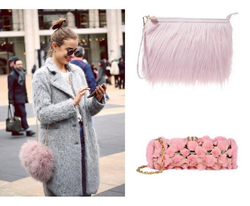 Модный тренд – пушистые сумки! 7