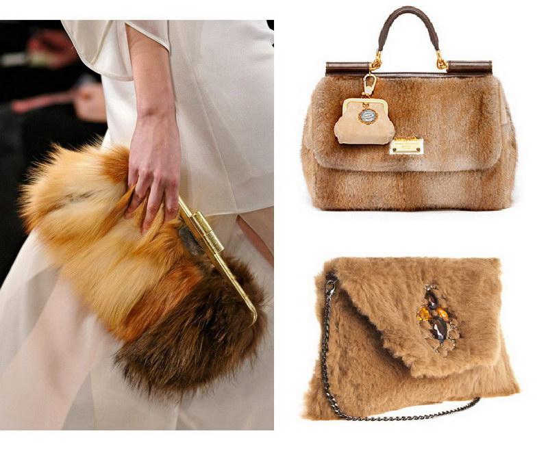 Модный тренд – пушистые сумки! 8