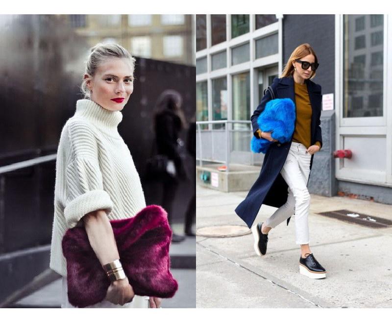 Модный тренд – пушистые сумки! 15