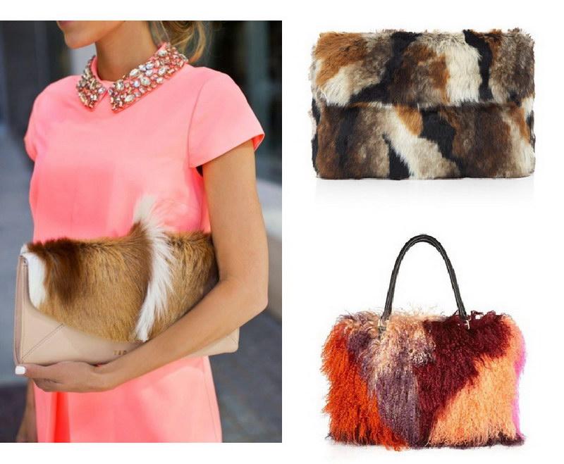 Модный тренд – пушистые сумки! 11