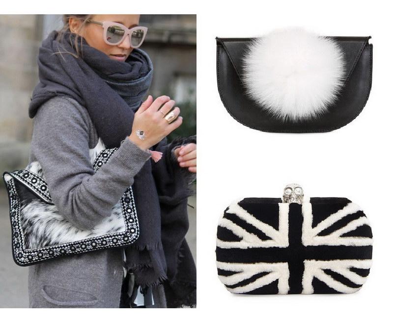 Модный тренд – пушистые сумки! 17