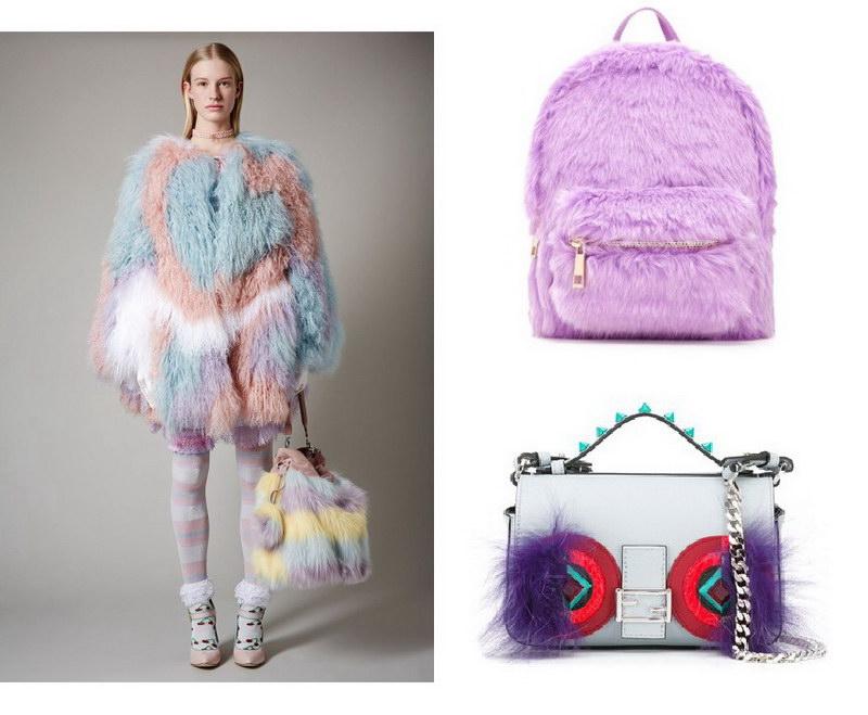 Модный тренд – пушистые сумки! 18