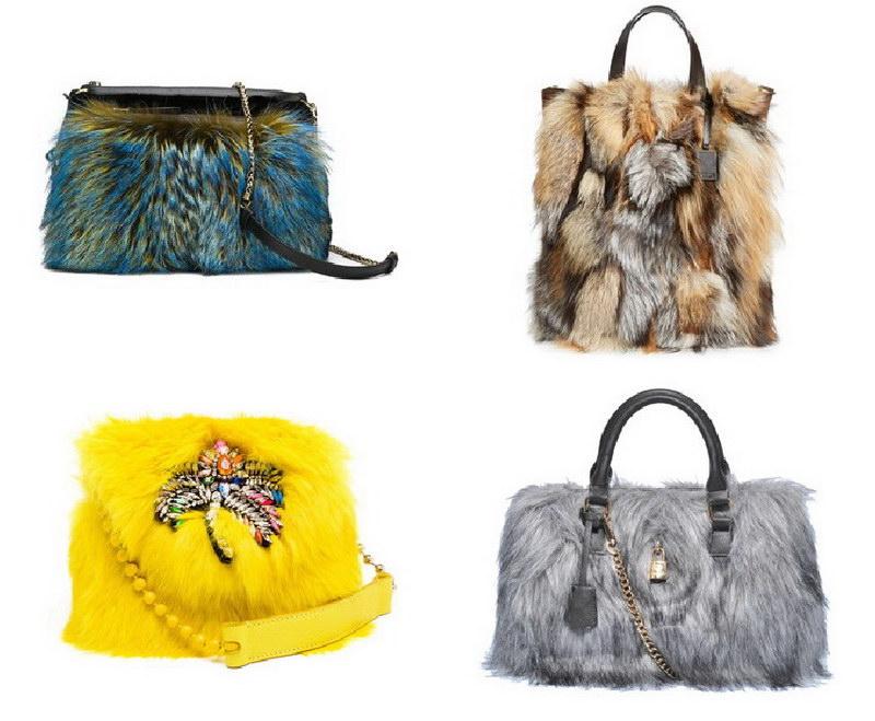 Модный тренд – пушистые сумки! 31