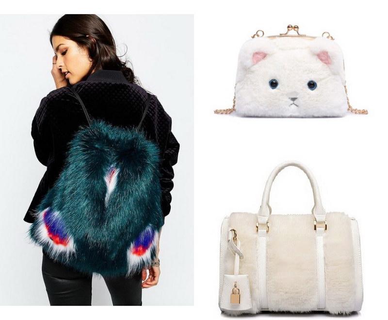 Модный тренд – пушистые сумки! 30