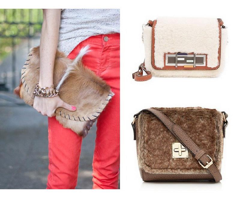 Модный тренд – пушистые сумки! 32