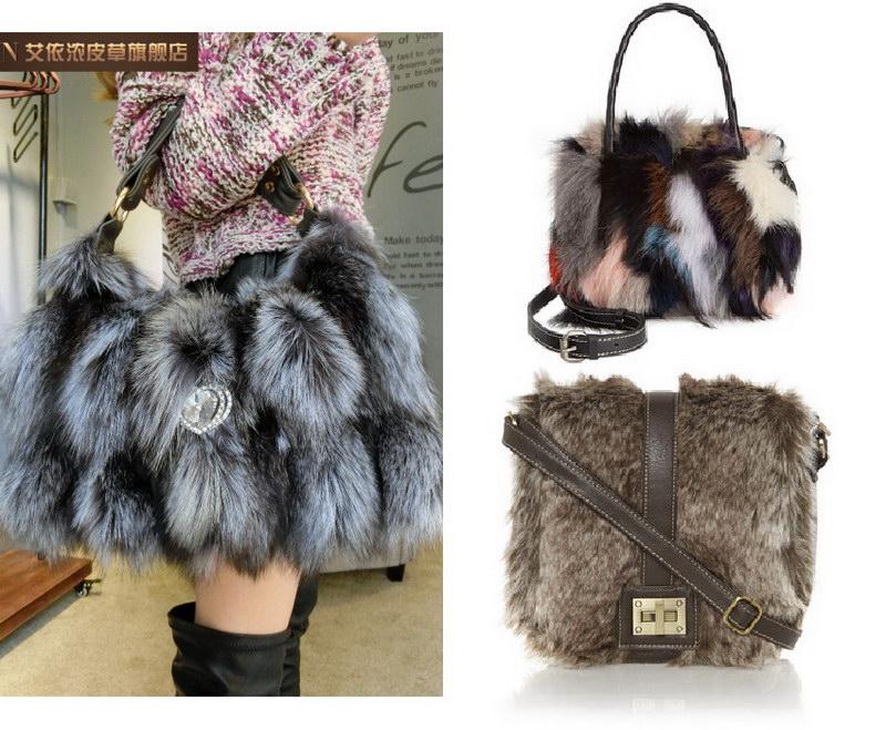 Модный тренд – пушистые сумки! 36