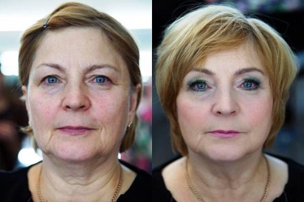 Макияж для женщины 60 лет
