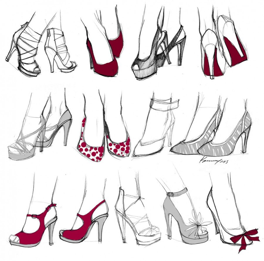 Ногу на ногу рисовать