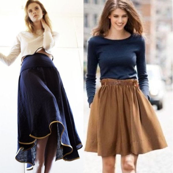 Дизайнерская юбка карандаш фото