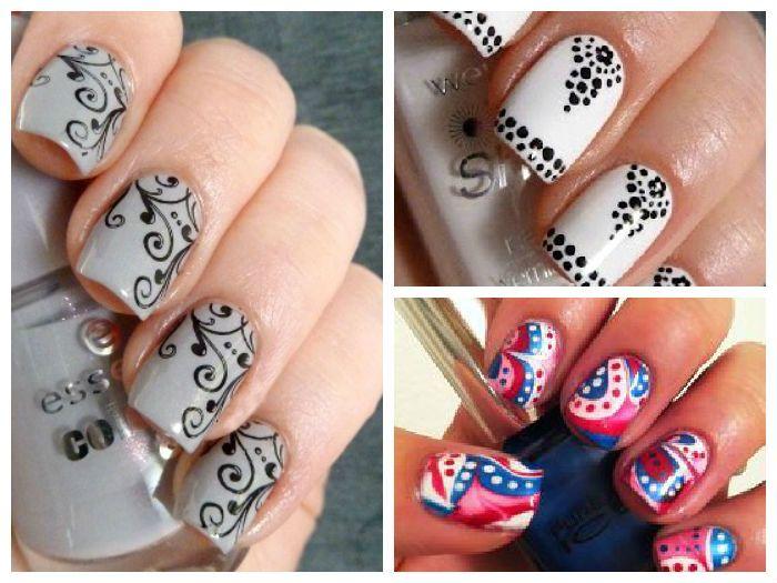 Узоры на ногтях на короткие ногти в  104