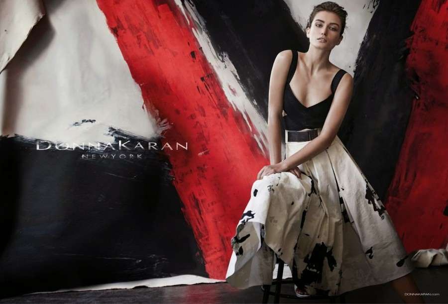 Andreea Diaconu for Donna Karan Ad Campaign by Peter Lindbergh 2