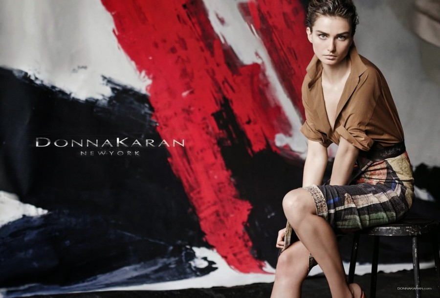 Andreea Diaconu for Donna Karan Ad Campaign by Peter Lindbergh 1