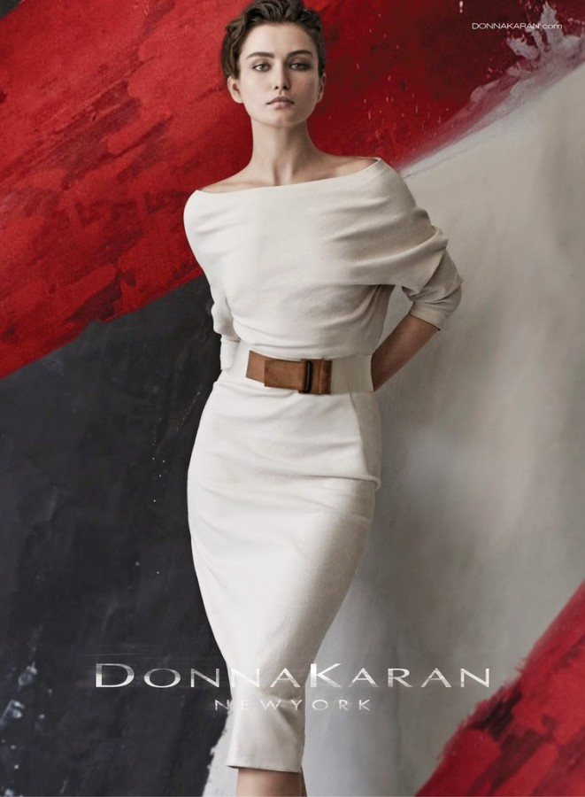 Andreea Diaconu for Donna Karan Ad Campaign by Peter Lindbergh 4