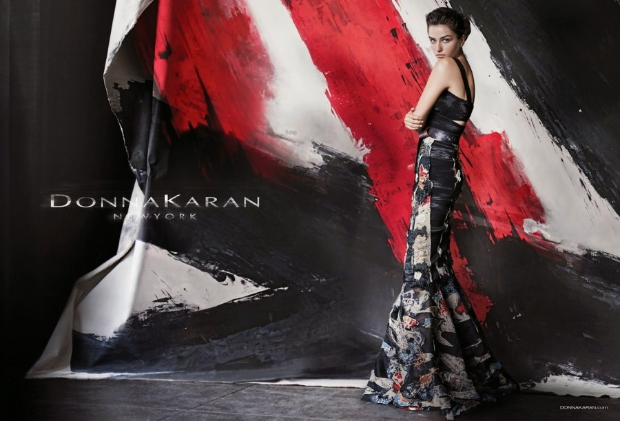 Andreea Diaconu for Donna Karan Ad Campaign by Peter Lindbergh 5