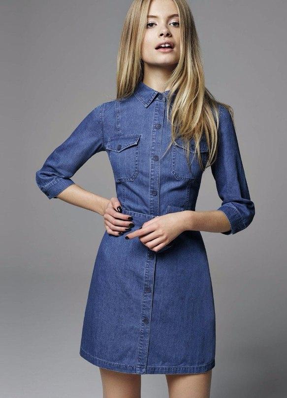 16e528344c02780 Джинсовые платья — Модно / Nemodno