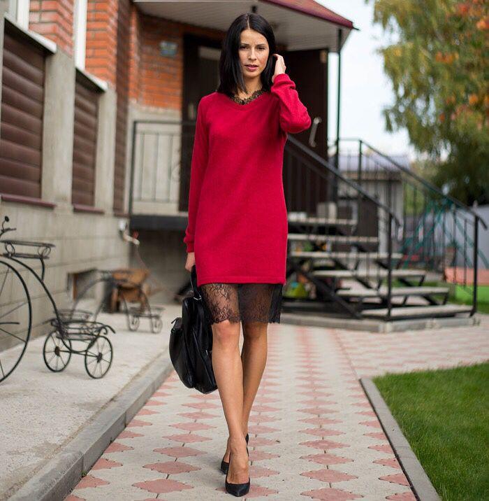 27d8491cf88 Look! Вязаные платья! — Модно   Nemodno