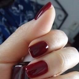 Модный бордовый цвет в маникюре! 0