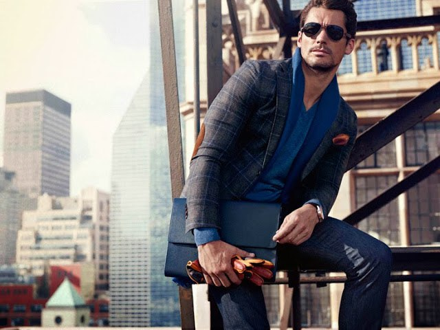 Carolyn Murphy & David Gandy for Massimo Dutti Campaign 1