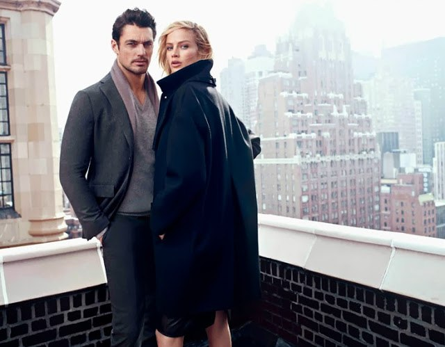 Carolyn Murphy & David Gandy for Massimo Dutti Campaign 6