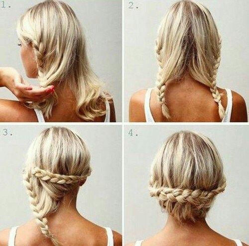 Простые прически на волосы до плеч своими руками фото