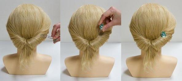 Очень красивая коса из вывернутого хвоста
