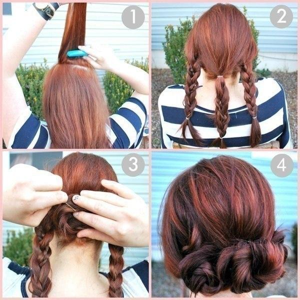 Причёски своими руками на средние волосы просто
