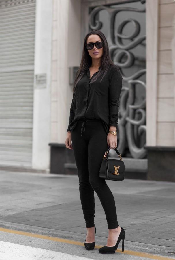 С чем сочетать черную блузку фото