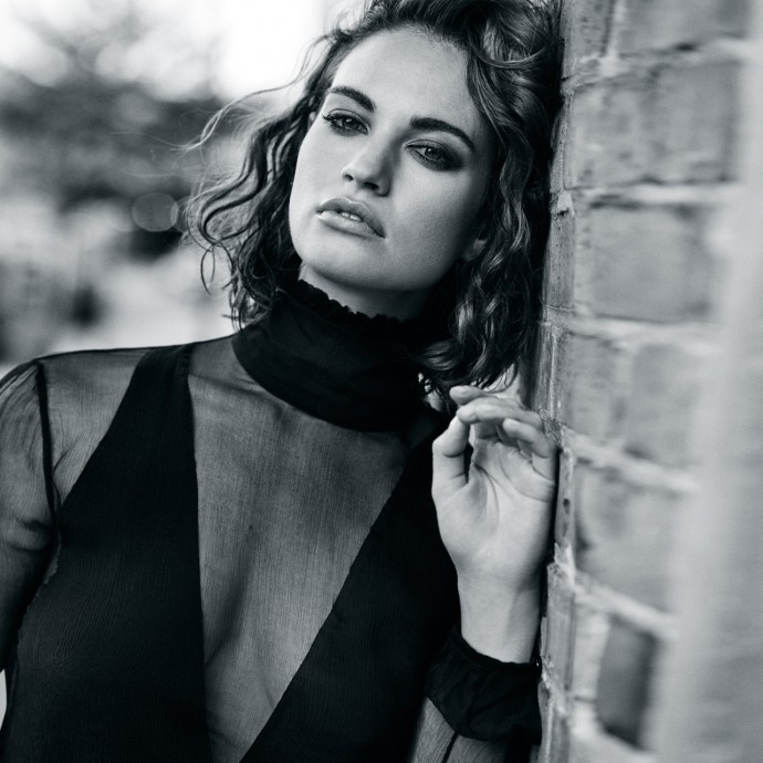 Lily James for The Edit Magazine by Jem Mitchell