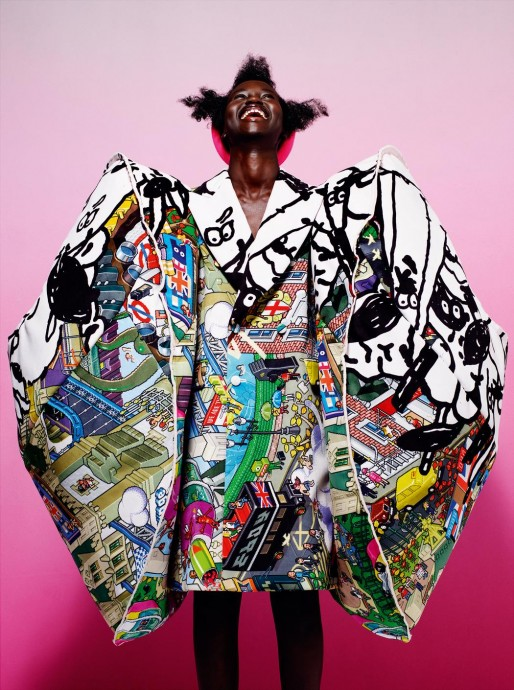 Adut Akech for I-D magazine by Mario Sorrenti