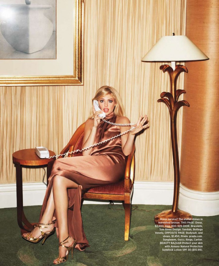 Kate Upton for Harper's Bazaar US by Terry Richardson