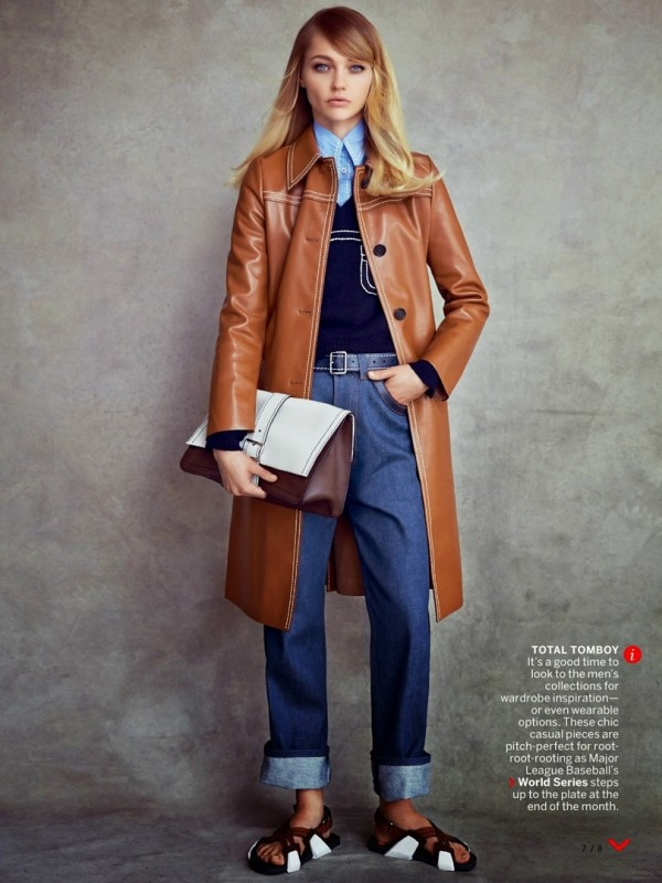 Sasha Pivovarova for VOGUE US by Patrick Demarchelier