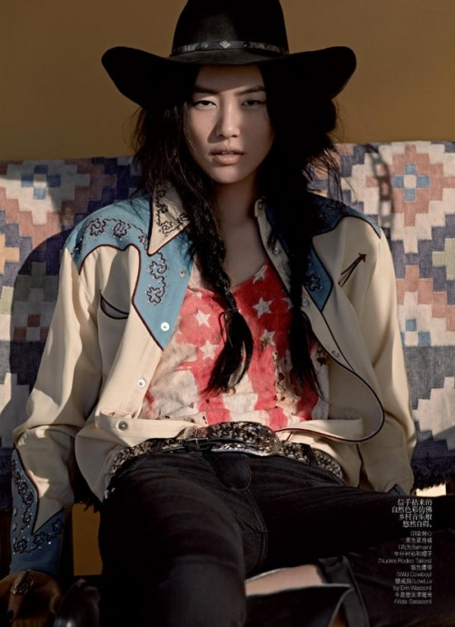 Liu Wen for Vogue China by Mark Segal