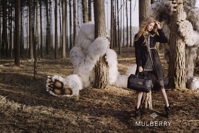 Lindsey Wixson for Mulberry by Tim Walker