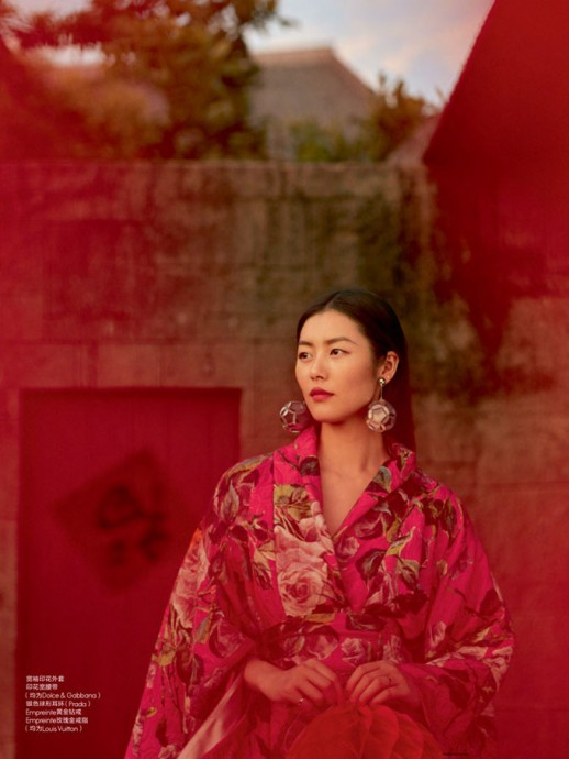 Liu Wen for ELLE China by Mei Yuangui